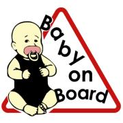 CAUTION BABY ON BOARD TRIANGLE