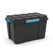 KIS SCUBA BOX XL BLACK/BLUE CLIPS 110L