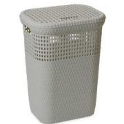 DEA LAUNDRY BASKET 60 LTR GREY