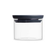 BRABANTIA STACKABLE GLASS JAR, 0.3 LITRE - DARK GREY