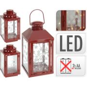 XMAS LANTERN RED WITH 8WW LED