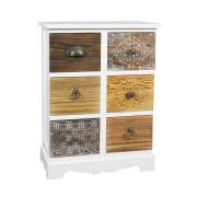 WOODEN CABINET 6 DRAWERS 45X25X60CM