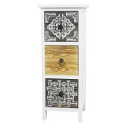 SHC WOODEN CABINET 3 DRAWERS 23.5X25X60.5CM