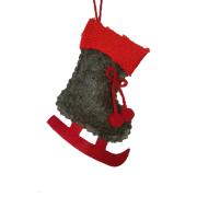 XMAS HANG BOOT RED 11CM