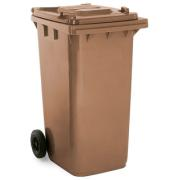 BIDONE BIN BROWN 120L WITH WHEELS