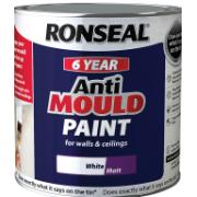 RONSEAL® 6YR ANTI MOULD PAINTWHITE 0.75L