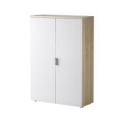 FORES OFFICE BOOKCASE WHITE/OAK