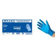 KAREN NITR BLUE DISPOSABLE GLOVES M 100PCS