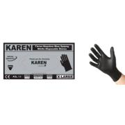 KAREN NITR BLACK DISPOSABLE GLOVES L 100PCS