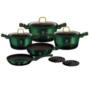 BERLINGER HAUS 10PC COOKWARE SET EMERALD