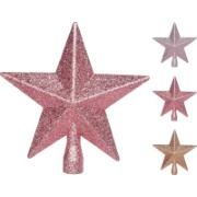 TREE TOP STAR 20CM GLITTER 3AS