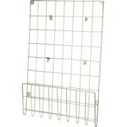 WALL RACK 40X60CM METAL GOLD