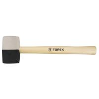 TOPEX RUBBER MALLET 58MM BL/WH