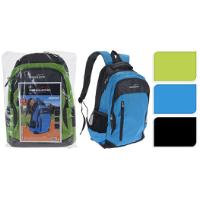 BACKPACK POLYESTER 3ASS CLR