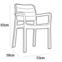 KETER TISARA CHAIR WHITE