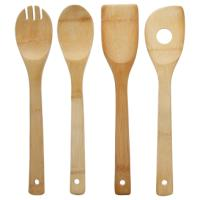 KITCHEN LADDLES WOOD SET 4PCS