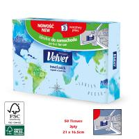 VELVETCARE CAR TRAVEL TISSUES X50PCS