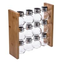 SPICES RACK X12 + BAMBOO BASE