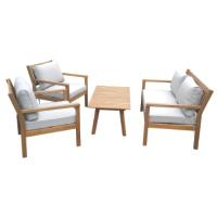 KINGBURY WOODEN SOFA 4PCS SET