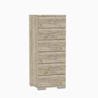 CHEST OF DRAWERS L45XD36XH109CM GREY