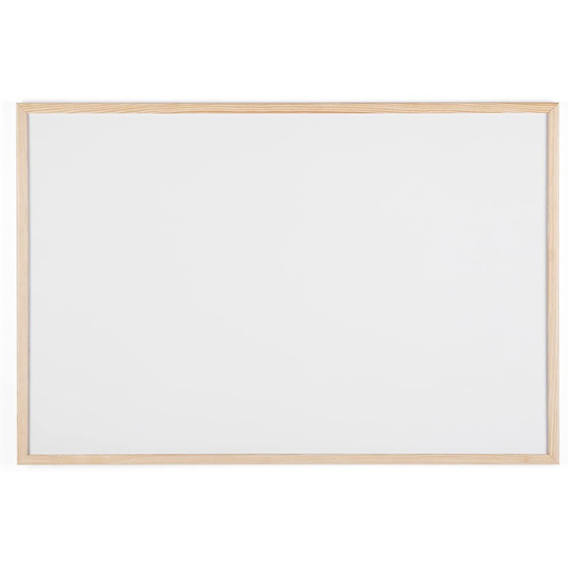DRY WIPE WHITEBOARD NOTICEBOARD WOODEN FRAMED 600X900MM