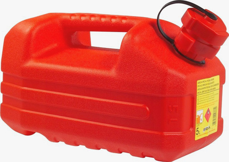 JERRYCAN 5L RED 32X17X18