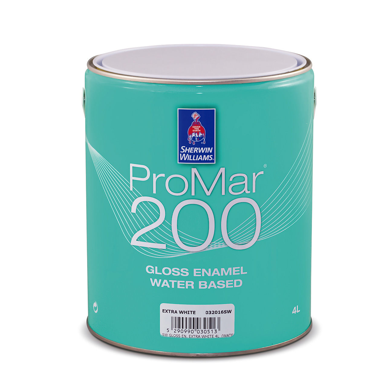 SHERWIN-WILLIAMS® PROMAR® 200 GLOSS ENAMEL WATER BASED EXTRA WHITE 4L