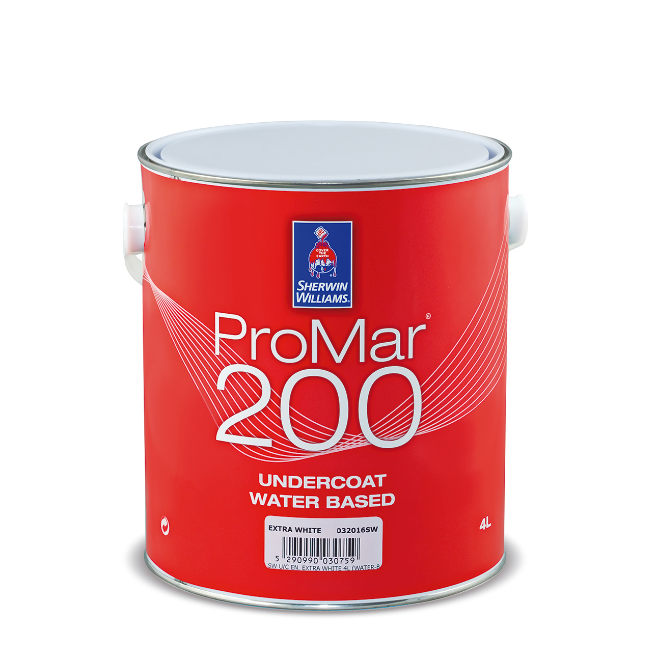 SHERWIN-WILLIAMS® PROMAR® 200 UNDERCOAT WATER BASED EXTRA WHITE 1L