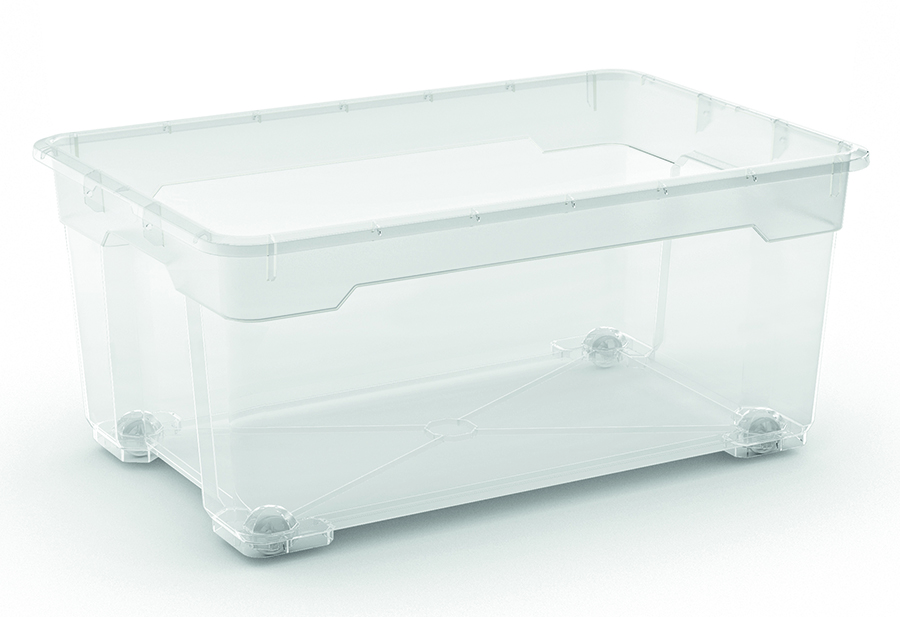 R BOX L BODY 40L TRANSPARENT
