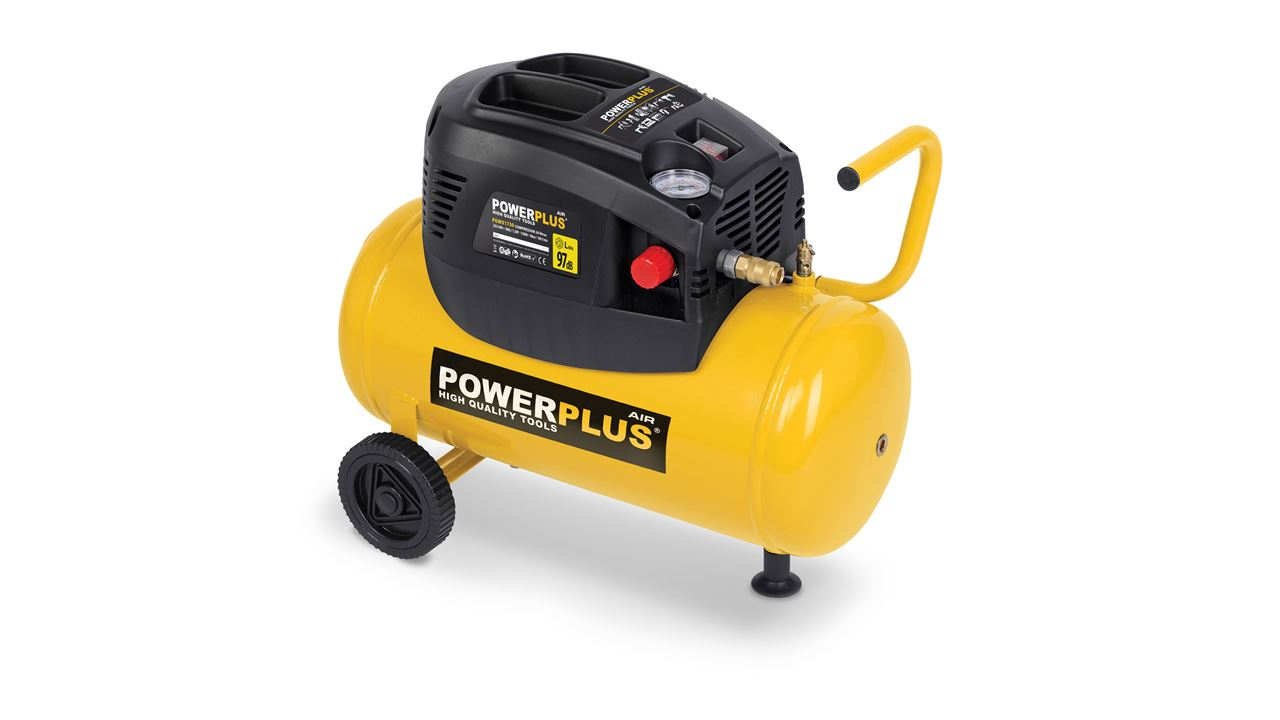 POWERPLUS COMPRESSOR 1100W 24L OIL FREE