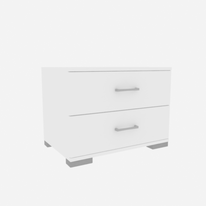 BED SIDE TABLE 45X60X46CM WHITE