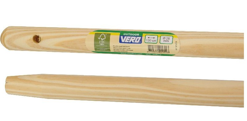 WOODEN HANDLE VERO 1300X28MM