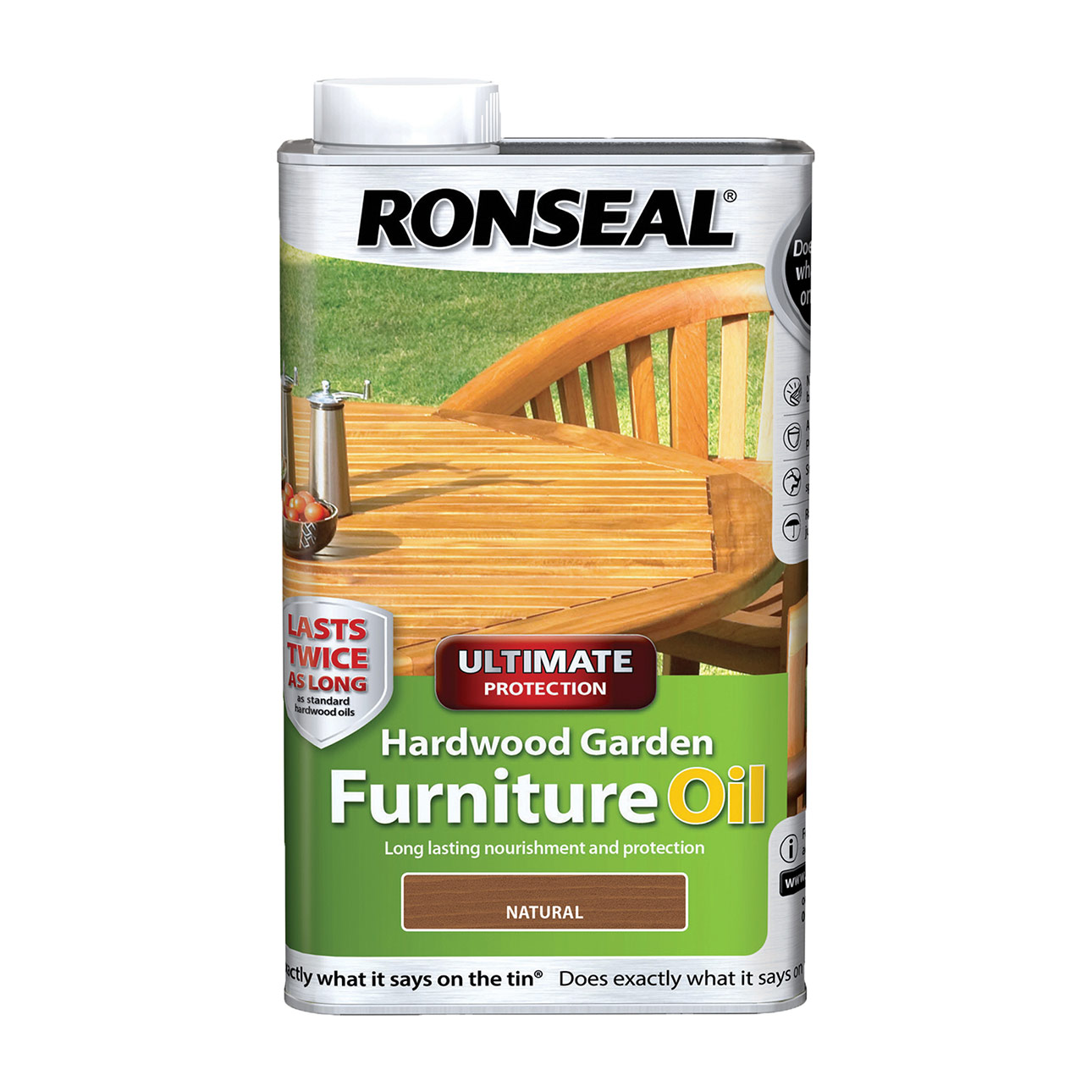 RONSEAL® ULTIMATE PROTECTION HARDWOOD FURNITURE OIL WATER BASED NATURAL CLEAR 1L