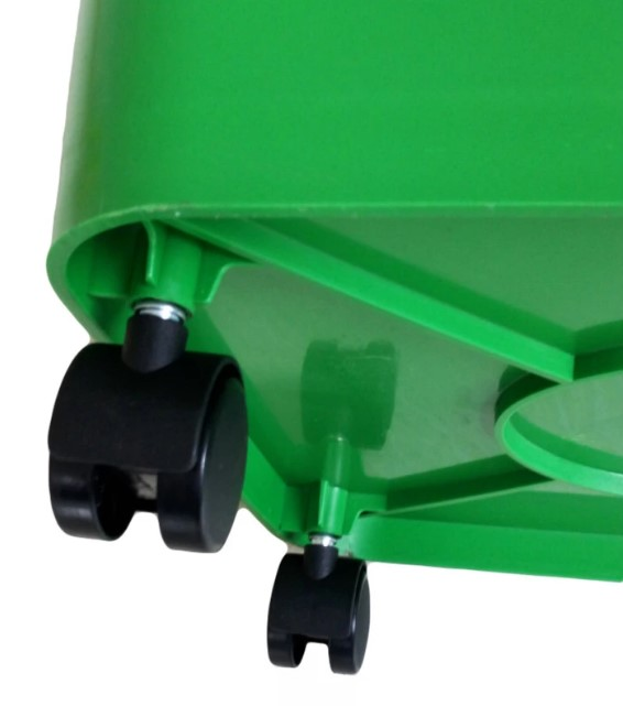 BIDONE BIN GREEN 30L WITH WHEELS