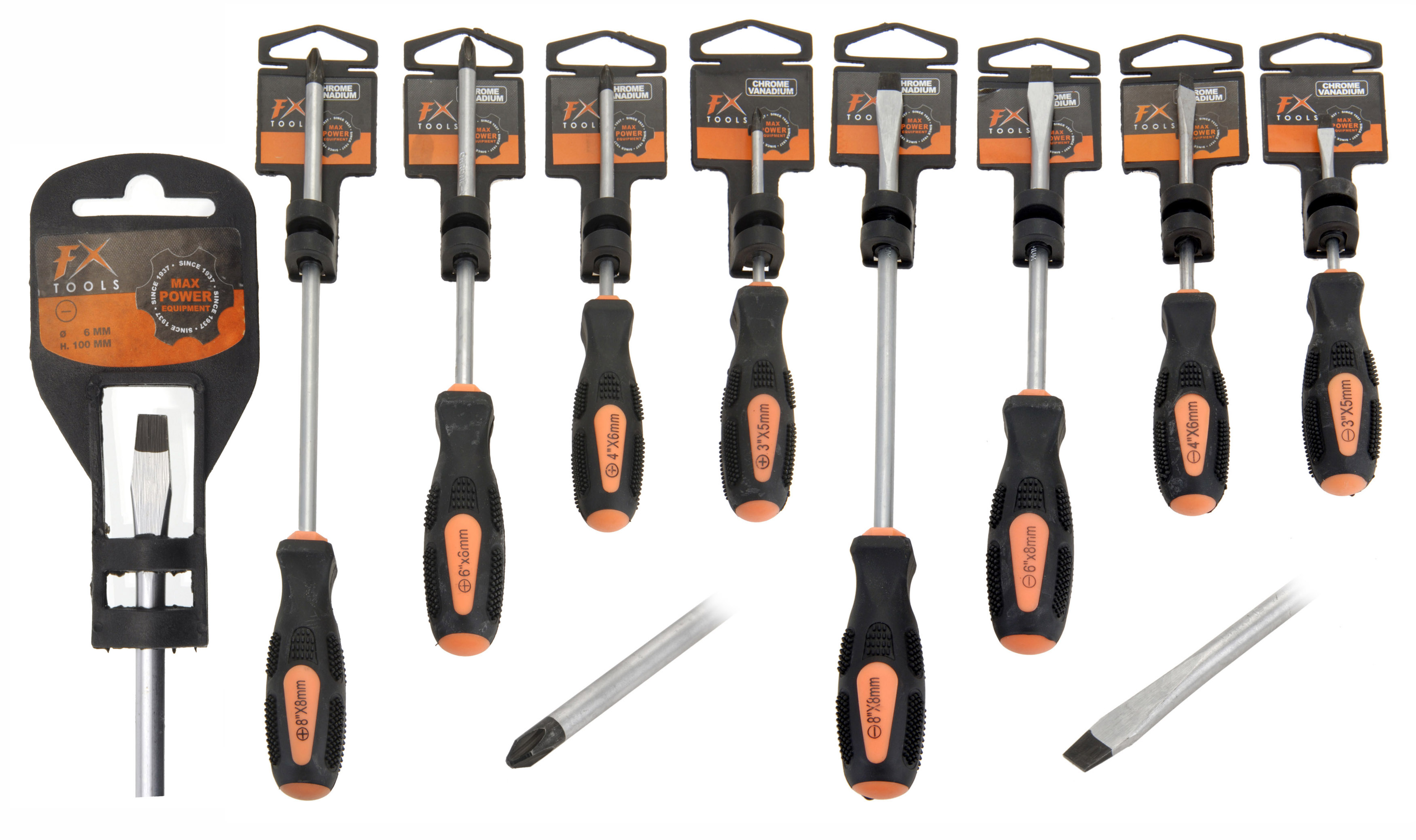 FX SCREW DRIVER 8ASS SIZES