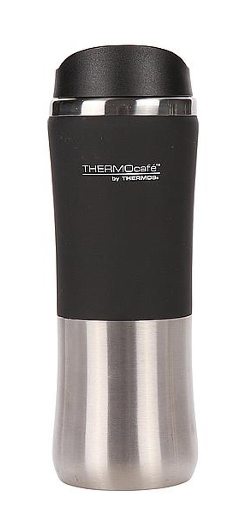 THERMOS TRAVEL MUG INOX 330ML BLACK
