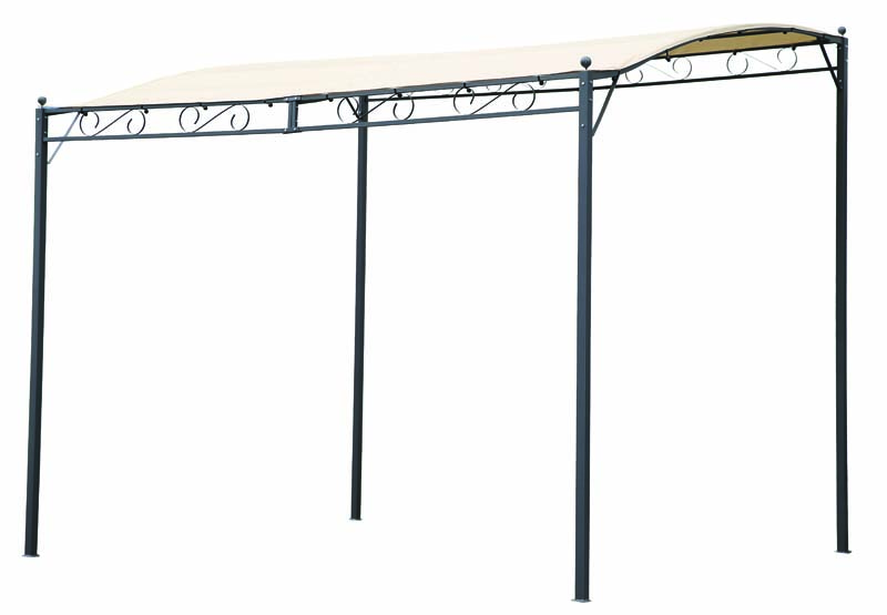 NAPOLI WALL METAL GAZEBO 2X3