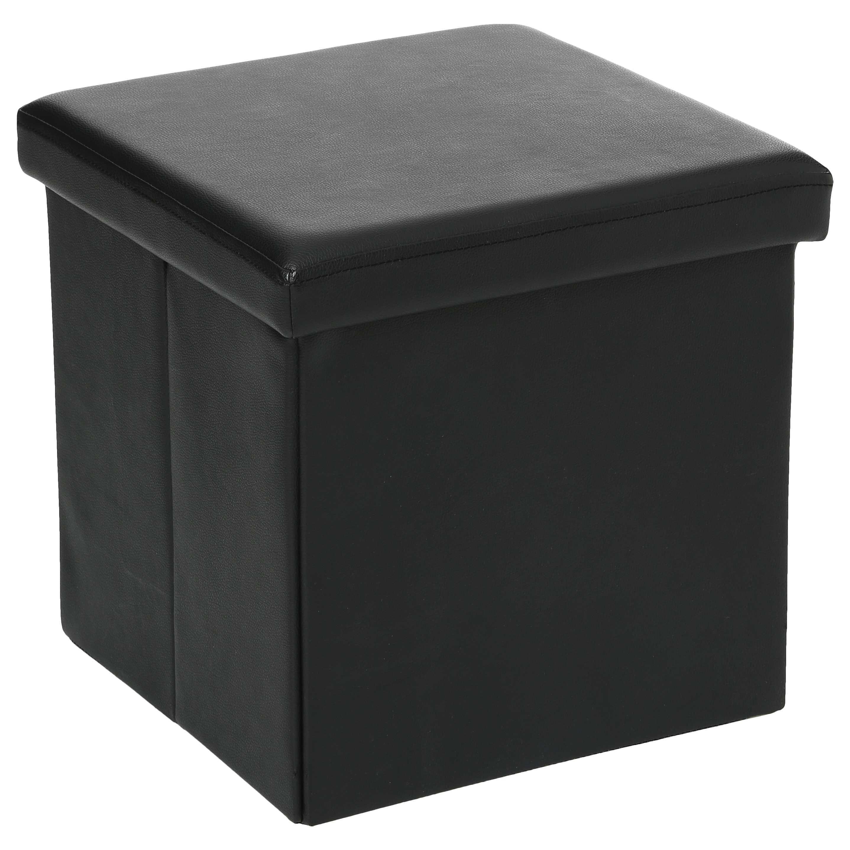 BLACK FOLDING STOOL 38X38CM