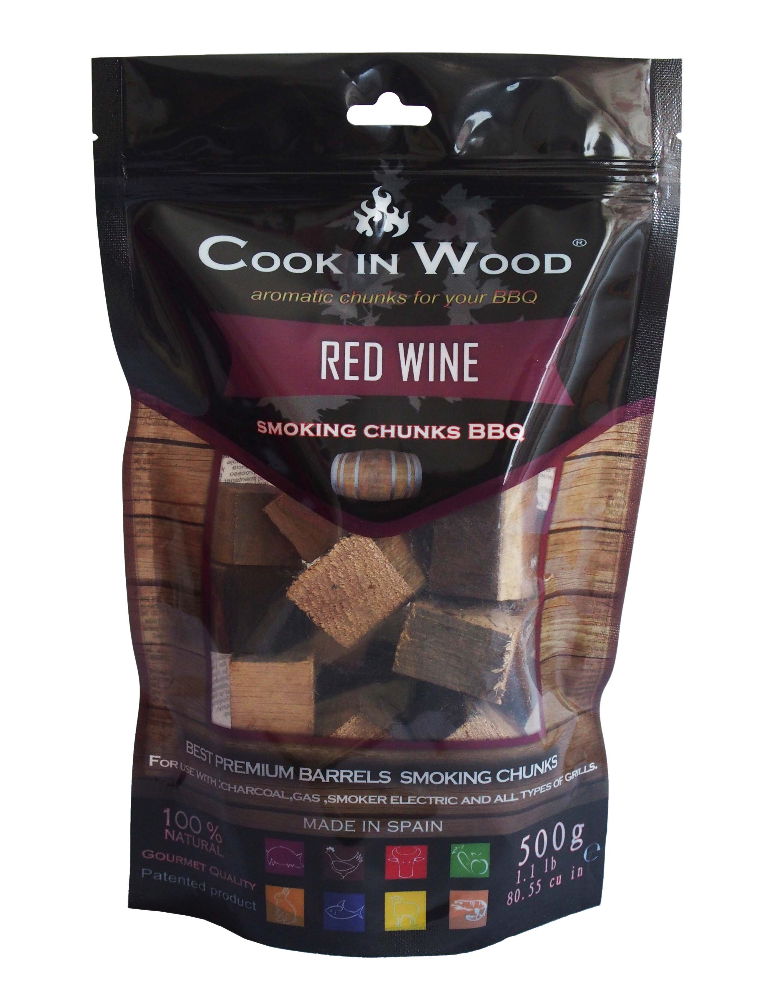COOK IN WOOD ΞΥΛΑ ΚΑΠΝΙΣΜΑΤΟΣ-RED WINE