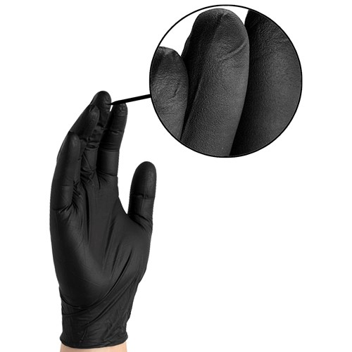 BLACK BARRIER NITRILE GLOVES