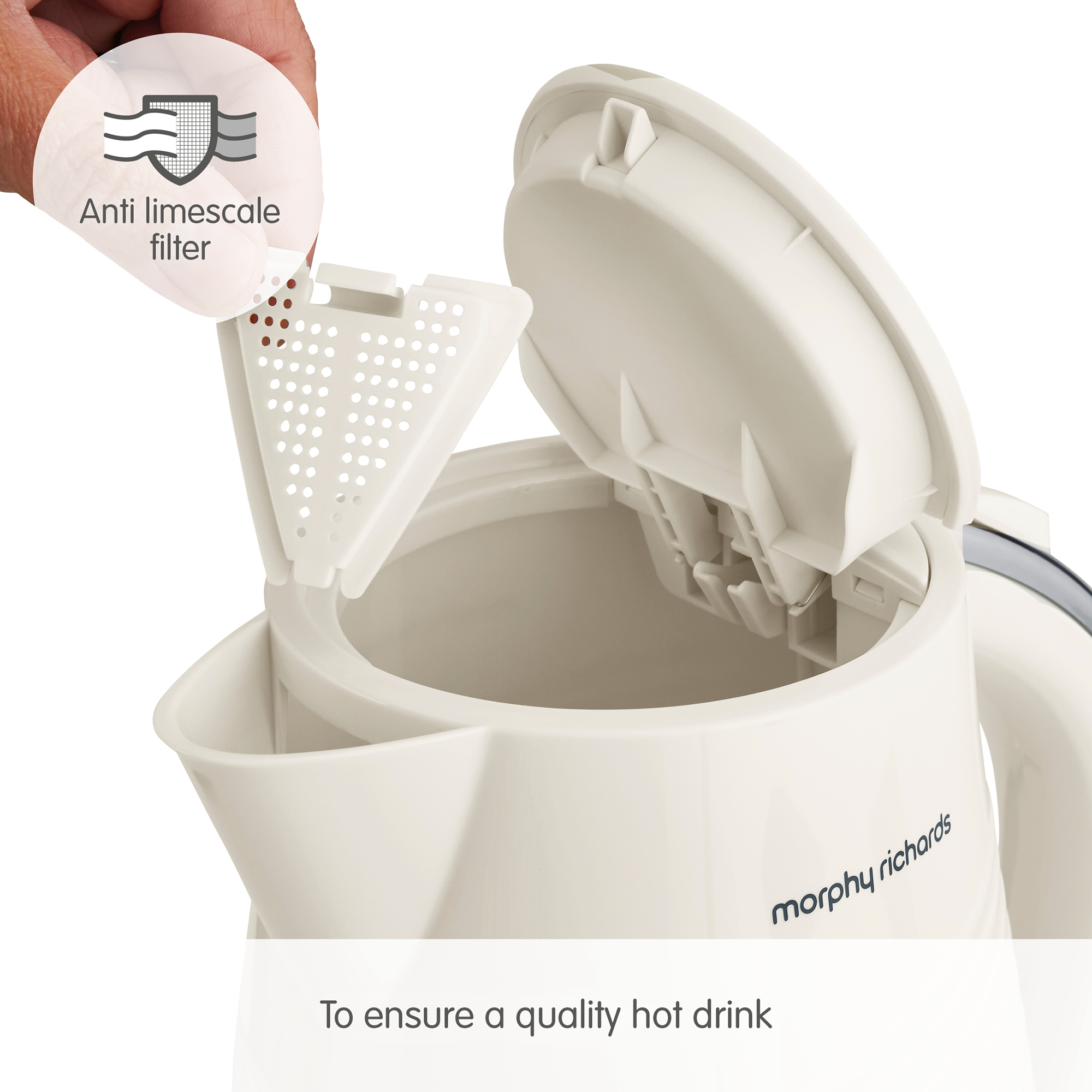 MORPHY RICHARDS DUNE KETTLE 3KW 1.7L CREAM